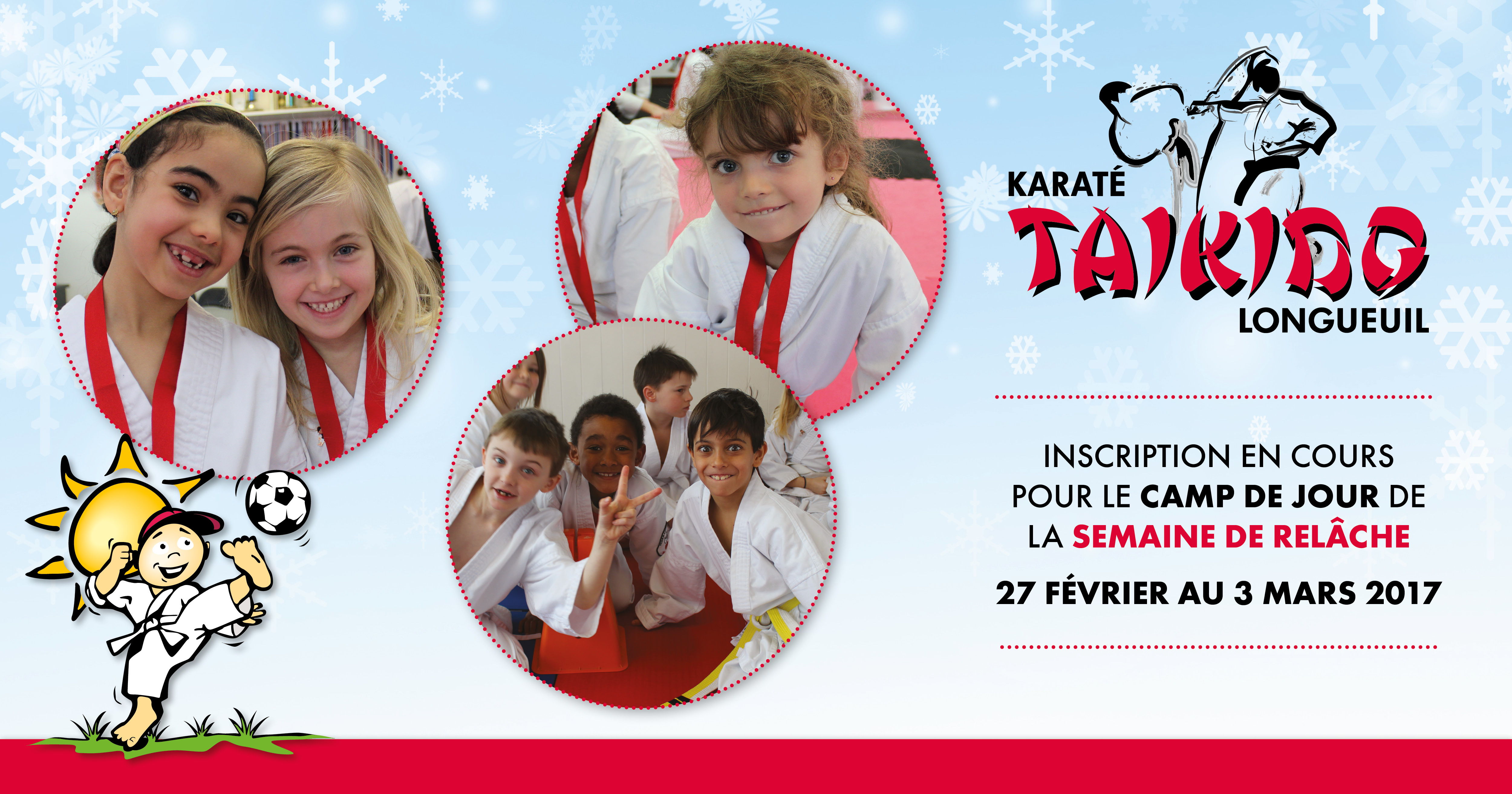 Camp jour relache karate Taikido Longueuil